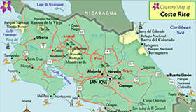Costa Rica maps to help you plan your vacation   Go Visit Costa Rica