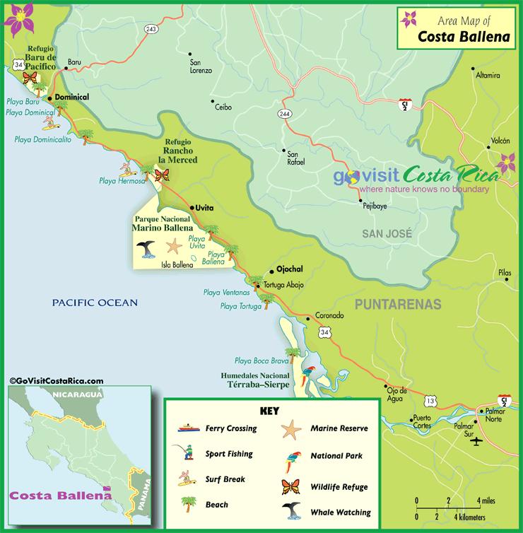 Costa Ballena Map