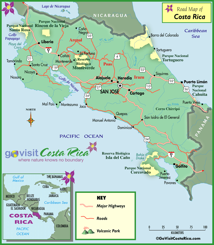 Costa Rica Road Map