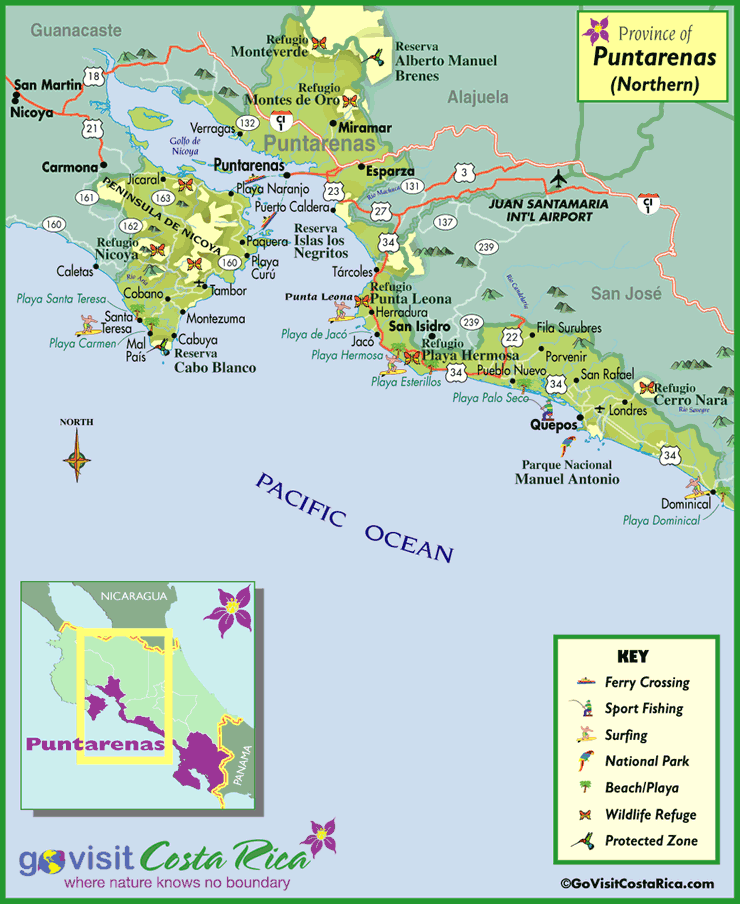 North Puntarenas Map
