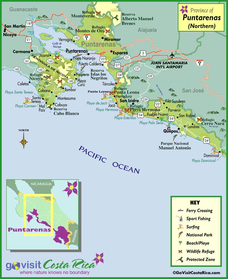 North Puntarenas Map