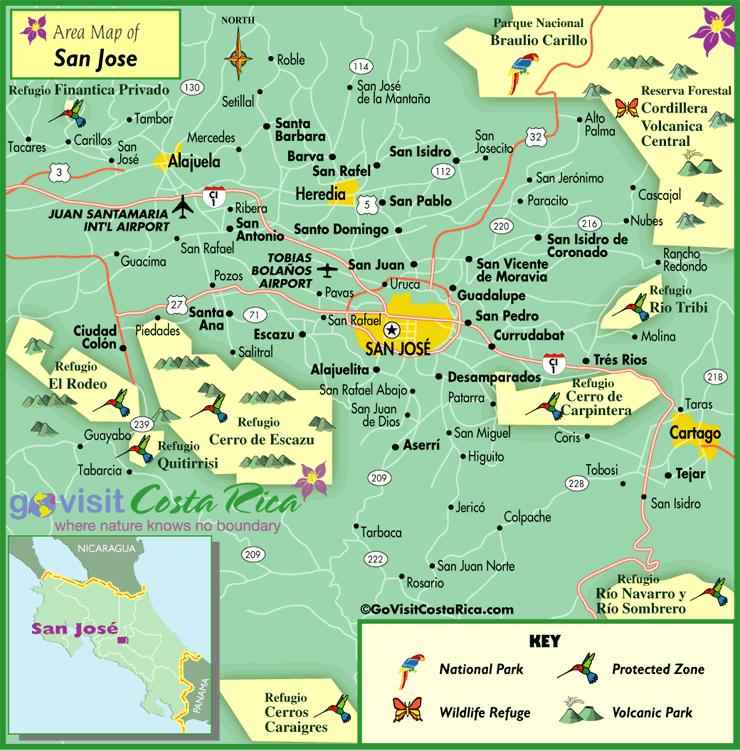San Jose Metro Map Costa Rica Go Visit Costa Rica