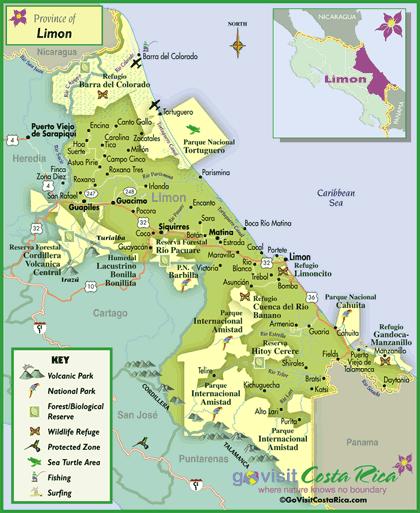 Limon Region Map
