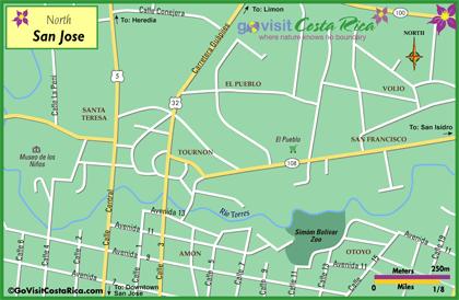 San Jose North Map