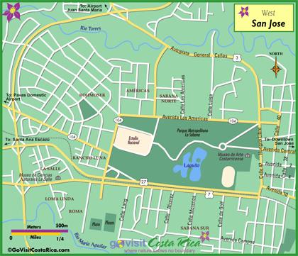 San Jose West Map