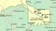 Mapa del Área de Rincón de la Vieja