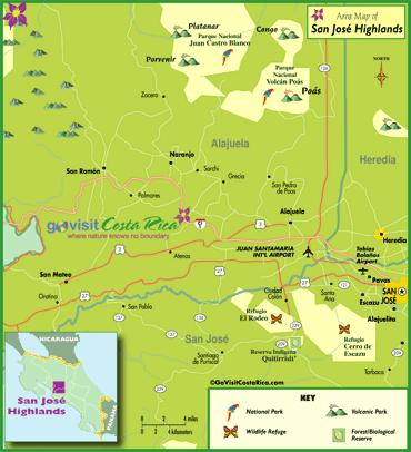 Mapa de la Area