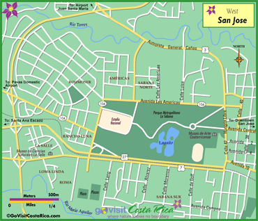 San Jose West Map