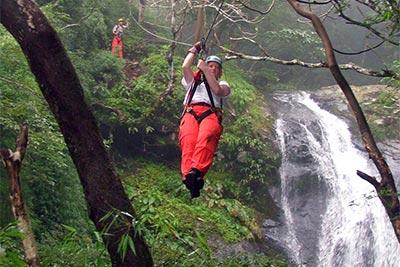 Waterfall Canopy Zipline Tour at Adventure Park